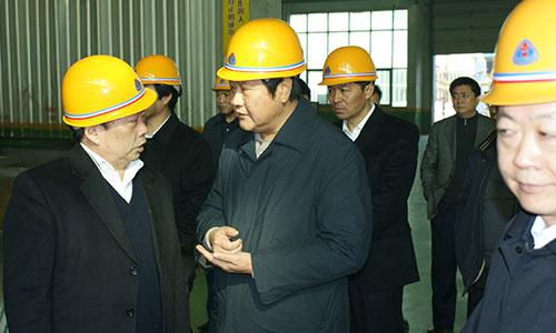 郑州市委副书记、市长赵建才临明泰视察