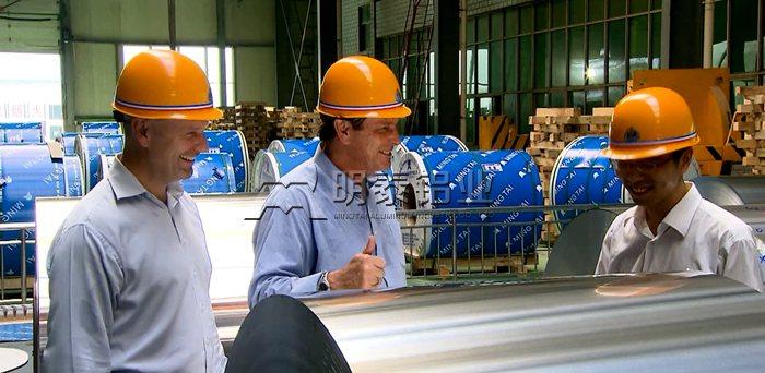 明泰铝业客户参观