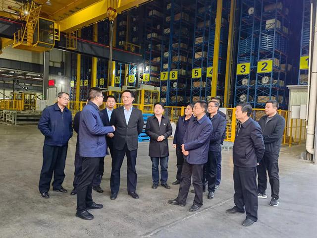 铜川市人民政府考察团一行到明泰铝业参观考察